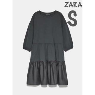 ZARA - 【新品・未使用】ZARA プリーツ加工 ワンピース S