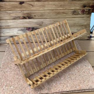 木製折りたたみ水切り 新品未使用