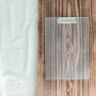 ムジルシリョウヒン(MUJI (無印良品))の無印良品 アクリルクリップボード A4サイズ(ファイル/バインダー)
