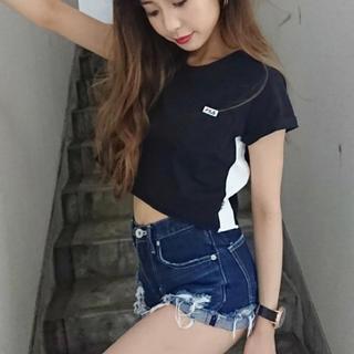 GYDA - FILAコラボ サイドラインショートTシャツ ネイビー