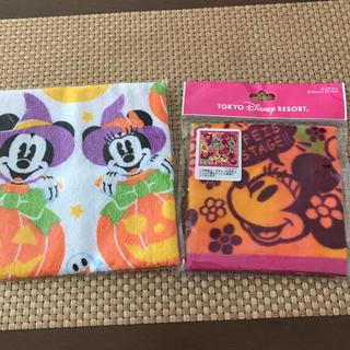 Disney - 東京ディズニーリゾート購入ミニタオル25×25ミニーマウス タオルハンカチ非売品