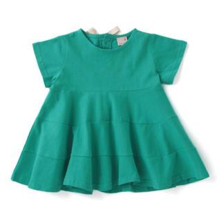 プティマイン(petit main)のプティマイン 130 バックリボンAラインフレアチュニック(Tシャツ/カットソー)