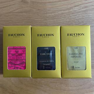 FAUCHON ティーバッグ(5袋入り)ブレンド、アールグレイ、ダージリン各1箱