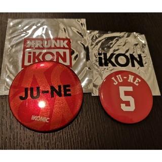 アイコン(iKON)のiKON ジュネ (JUNE) 缶バッジ2点セット 아이콘 アイコン(アイドルグッズ)