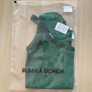 トゥモローランド(TOMORROWLAND)のFUMIKA_UCHIDA ワンショルダー タンクトップ green(タンクトップ)