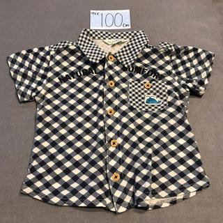 サンカンシオン(3can4on)の100 チェックシャツ くじら(Tシャツ/カットソー)