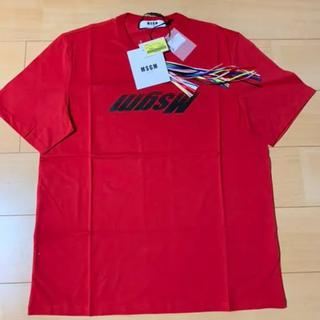 エムエスジイエム(MSGM)のT-SHIRT WITH REVERSED MSGM LOGO ロゴTシャツ(Tシャツ/カットソー(半袖/袖なし))