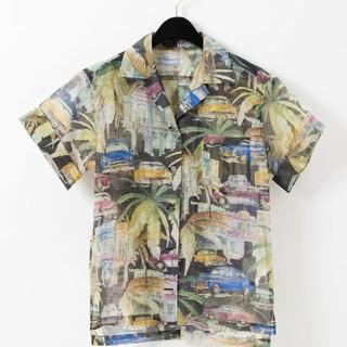 GRACE CONTINENTAL - グレースコンチネンタル グレースクラス リップストッププリントシャツ