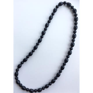 アッシュペーフランス(H.P.FRANCE)のヴィンテージ ロングネックレス ブラック 黒 ビンテージ (ネックレス)
