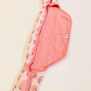 ベルメゾン(ベルメゾン)の☆ 抱っこ紐用 よだれカバー ☆ピンクのゾウさん柄 一体型(抱っこひも/おんぶひも)
