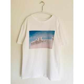 bulle de savon - Caph カーフ プリントTシャツ 白