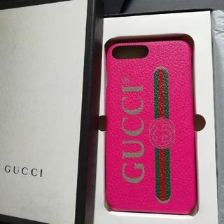 グッチ(Gucci)の正規直営店購入 グッチ iPhone plus ケース 新品、ギフト箱付き(iPhoneケース)