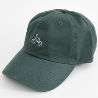 POU DOU DOU - プードゥドゥ 自転車刺繍キャップ グリーン 新品タグ付
