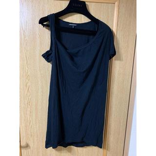 アンドゥムルメステール(Ann Demeulemeester)のアシンメトリーTシャツ(Tシャツ(半袖/袖なし))