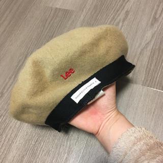 イーハイフンワールドギャラリー(E hyphen world gallery)のベレー帽 ベージュ Lee E hyphen world gallery(ハンチング/ベレー帽)