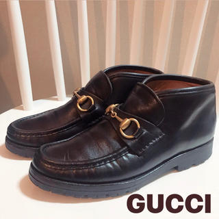 グッチ(Gucci)の【最終価格!】GUCCI ホースビット ローファー ショートブーツ 小さいサイズ(ローファー/革靴)