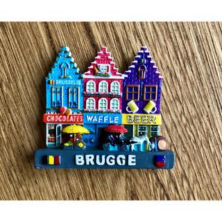 フランフラン(Francfranc)の【美品】ベルギー ブルージュ(BRUGGE)デザインマグネット / 旅 土産(置物)