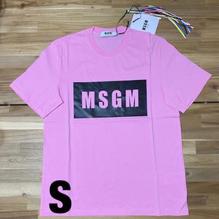 エムエスジイエム(MSGM)の新品 MSGM エムエスジーエム ロゴTシャツ ピンク 半袖 メンズ S 人気(Tシャツ/カットソー(半袖/袖なし))