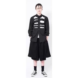 BLACK COMME des GARCONS - 18ss BLACK COMME des GARCONS 切りぬき シャツ 黒