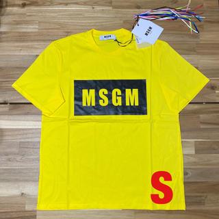 エムエスジイエム(MSGM)の新品 MSGM エムエスジーエム ロゴTシャツ メンズ イエロー 黄色 半袖 S(Tシャツ/カットソー(半袖/袖なし))