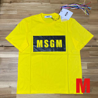 エムエスジイエム(MSGM)の新品 MSGM エムエスジーエム ロゴTシャツ メンズ イエロー 黄色 半袖 M(Tシャツ/カットソー(半袖/袖なし))