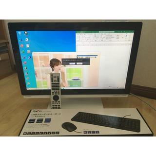 フジツウ(富士通)のFH77/ED★i7-2670★23型★3波TV★8G★2T★W録画★空気清浄機(デスクトップ型PC)