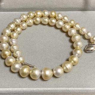 南洋真珠 バイカラー パールネックレス