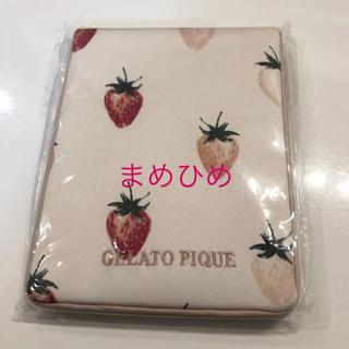 ジェラートピケ(gelato pique)のレア☆新品♡サテンストロベリーミラー♡ピンク♡ジェラートピケ(ミラー)