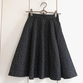 マーキュリーデュオ(MERCURYDUO)のドットスカート(ひざ丈スカート)