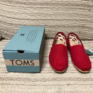 トムズ(TOMS)の【新品】TOMS トムス メンズ Red Canvas CLASSICS 正規品(スリッポン/モカシン)