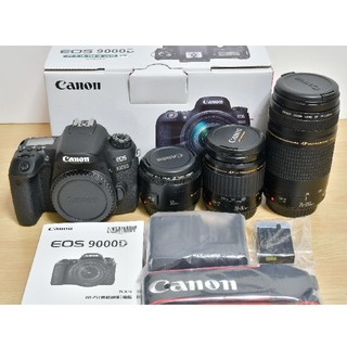 Canon - Canon EOS 9000D 標準&望遠&単焦点トリプルレンズセット