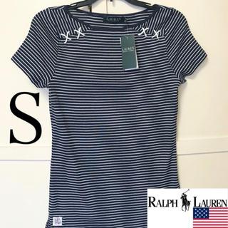 ラルフローレン(Ralph Lauren)のレア新品RALPHLAUREN USAレディースTシャツ S ネイビー×ホワイト(Tシャツ(半袖/袖なし))