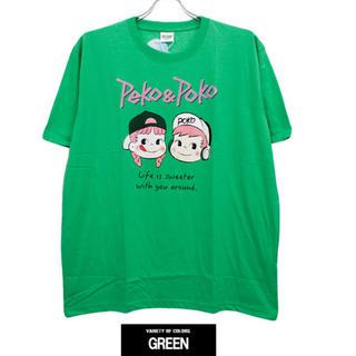 サンリオ(サンリオ)の新品♡ペコちゃんポコちゃん半袖Tシャツ(グリーン・LL)(Tシャツ/カットソー(半袖/袖なし))