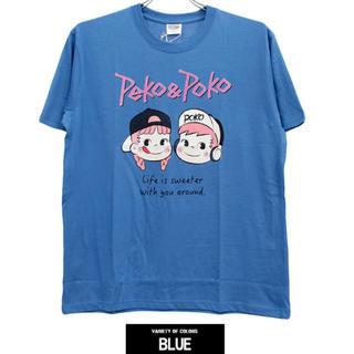 サンリオ(サンリオ)の新品♡ペコちゃんポコちゃん半袖Tシャツ♡(ブルー・LL)(Tシャツ/カットソー(半袖/袖なし))