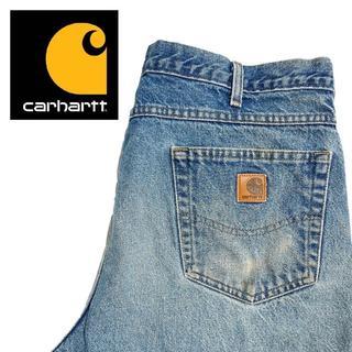 カーハート(carhartt)の【Carhartt】US古着 ワイドデニムパンツ 38×34 A024(デニム/ジーンズ)