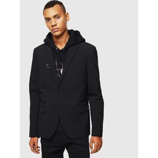 ディーゼル(DIESEL)のDIESEL ジャケット ベルト付き ブラック  S ディーゼル(テーラードジャケット)