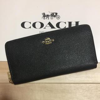 コーチ(COACH)の新品 [COACH コーチ] 長財布 シンプルな黒(財布)
