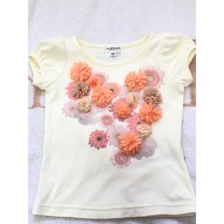 ジルスチュアートニューヨーク(JILLSTUART NEWYORK)のジルスチュアート 立体お花Tシャツ 100(Tシャツ/カットソー)
