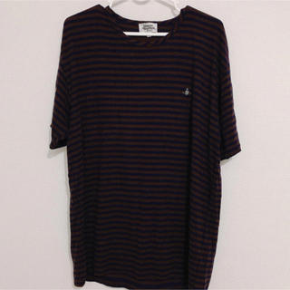 ヴィヴィアンウエストウッド(Vivienne Westwood)の【ヴィヴィアン】ボーダービックTシャツ(Tシャツ/カットソー(半袖/袖なし))