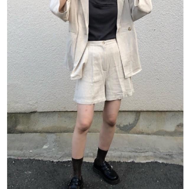 Kastane(カスタネ)のリネンショートパンツ レディースのパンツ(ショートパンツ)の商品写真