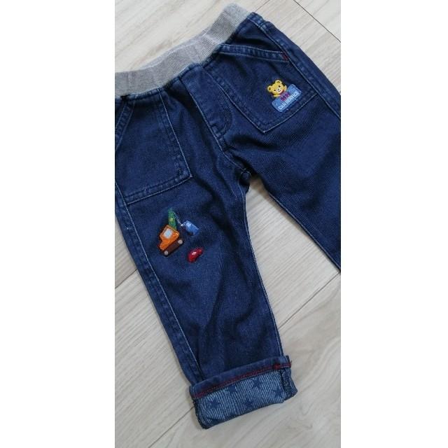 mikihouse(ミキハウス)のミキハウス プッチー 裾折返し パンツ キッズ/ベビー/マタニティのキッズ服男の子用(90cm~)(パンツ/スパッツ)の商品写真