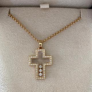 ショパール(Chopard)のショパールハッピーダイヤモンドネックレス、k18.純金(ネックレス)