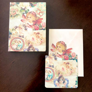 ジェーンマープル(JaneMarple)の輸入 BOX入りカード・封筒セット 各7枚 天使(カード/レター/ラッピング)