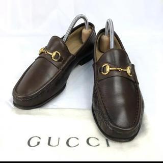 グッチ(Gucci)のオールド グッチ ホースビット レザー ローファー レディース 革靴(ローファー/革靴)