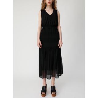 moussy - MOUSSY  V NECK CHIFFON GATHER ドレス F