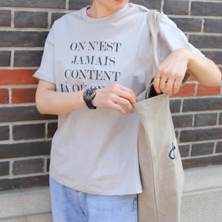 イエナ(IENA)の新品☆IENA☆Le Petit Prince ロゴTシャツ A/グレー(Tシャツ(半袖/袖なし))