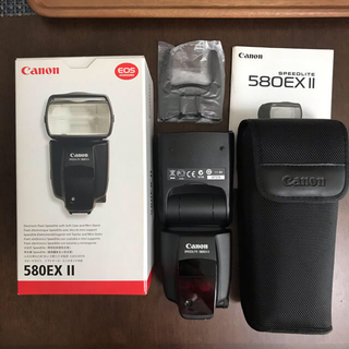 キヤノン(Canon)のCanon スピードライト580EX II (ケース付き)(ストロボ/照明)