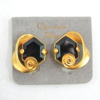 Christian Dior - 【USED】クリスチャンディオール ゴールド×ブラックストーン イヤリング
