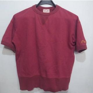 エビス(EVISU)のエヴィス EVISU 半袖 スウェット Mサイズ エンジ(Tシャツ/カットソー(半袖/袖なし))