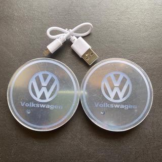 フォルクスワーゲン(Volkswagen)のVW フォルクスワーゲン LEDライト コースター(車内アクセサリ)